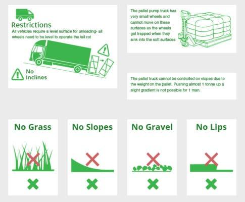 pallet truck restrictions