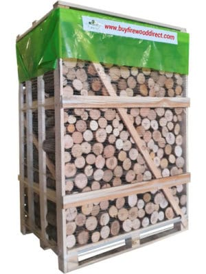 Large Crate – Kiln Dried Ash Un-split Logs